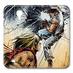 iCustomonline Leather Case for Samsung galaxy S4, Street Fighter Ultimate Protection Leather Case for Samsung galaxy S4
