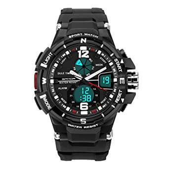 amazon com deebol dual time electronic watches for men water deebol dual time electronic watches for men water resistant sports watch men watches