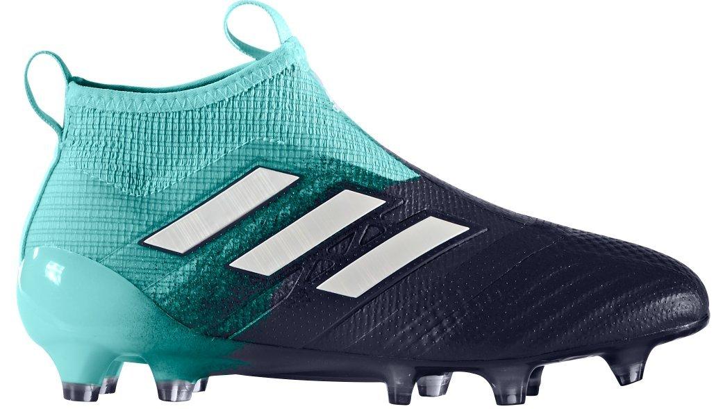 adidas Kid's ACE 17+ PURECONTROL FG J Soccer Cleats (Energy Aqua / Running White / Legend Ink) , 5.0 D(M) US
