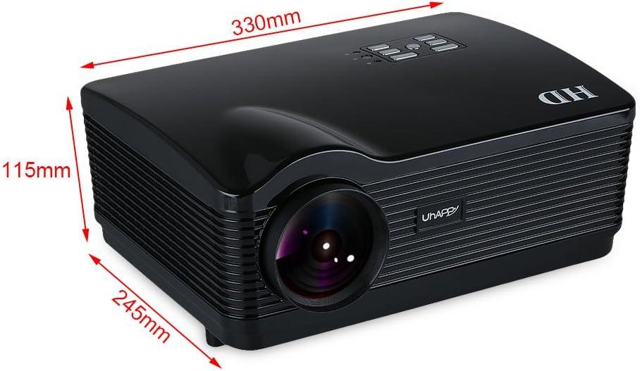 Uhappy H3 - HD ATV proyector Home Cinema (3000 lúmenes, resolución ...