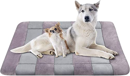 JoicyCo Dog Beds Crate Pad Mat 36 42 47 Pet Bed Washable Cat Beds Anti-Slip Dog Mattress Kennel Pad