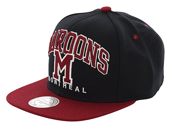 9d704872475 Image Unavailable. Image not available for. Colour  Mitchell   Ness Nu Arc  Montreal Maroons Snapback Cap EU085 Kappe Basecap