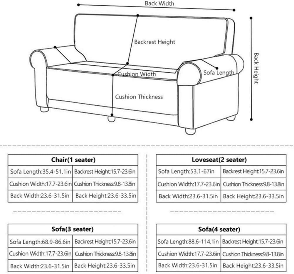 Dos Plazas, Pattern #Hyy HOTNIU Funda El/ástica de Sof/á Funda Estampada para sof/á Antideslizante Protector Cubierta de Muebles