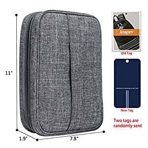 Leaper Double Layer Travel Cable Organizer Electronics Accessories Cases Black