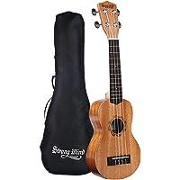 Deals on Strong Wind Soprano Ukulele Mahogany 21-in Hawaiian Uke Guitar