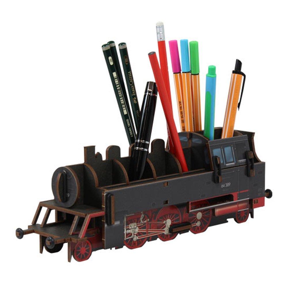 Werkhaus Pencil Holder Steam Engine, Black