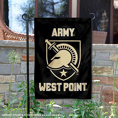 College Flags and Banners Co. Army Black Knights Athena Shield Garden Flag ()