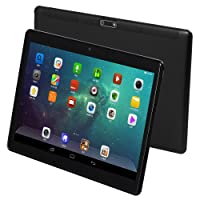 """KUBI 10"""" Android 7.0 Tablet, Octa-Core Processor, 2GHz, 64GB Storage, 4GB RAM, Dual Camera, 1280 x 800 IPS Ultra Slim 3D Game Supported (Black)"""