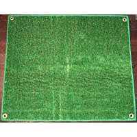 Outdoor Turf Rug / Aisle Runner – 4x20 Green – Artificial Grass with Premium BOUND Nylon Edges and Grommits. 8 Oz. - 100% UV olefin. Light Weight Marine Back. Many Custom Sizes & Shapes Available
