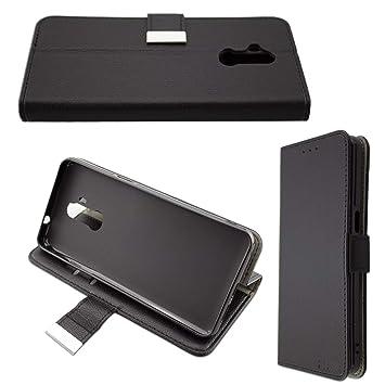 Casco para Ulefone P6000 Plus, Bookstyle-Case Funda Protectora a Prueba de Golpes para Smartphone (Carcasa de Color Negro)