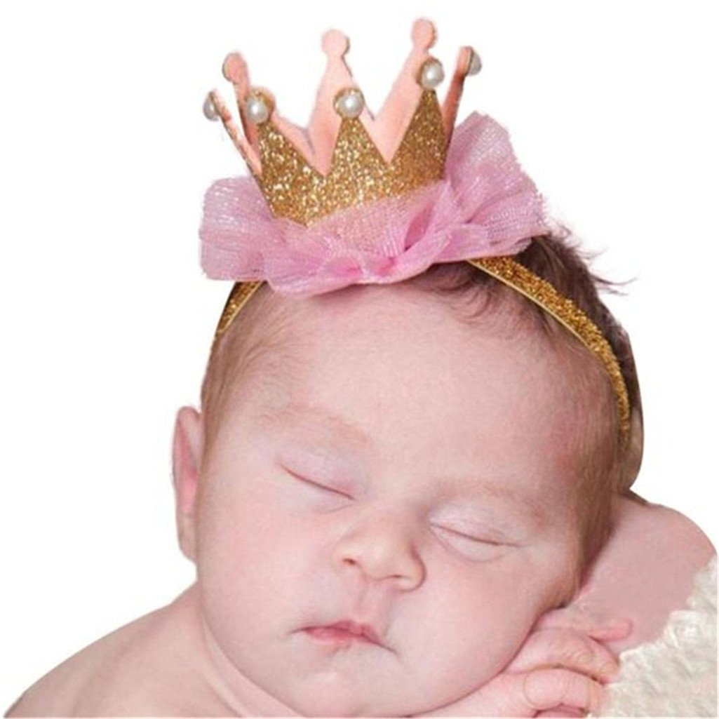 Baby Girl Princess Crown Headband Headwear for Photography Props Costume Party