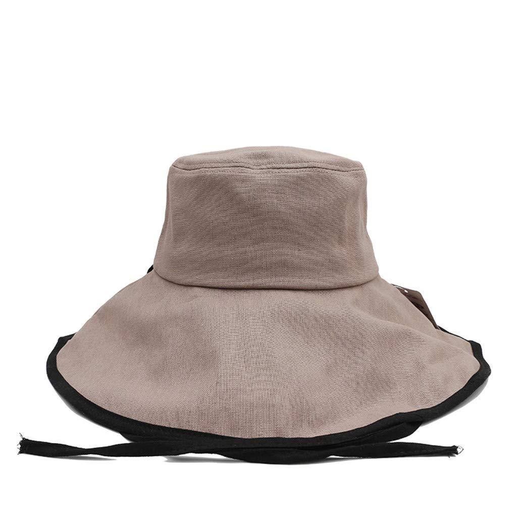 Sombreros de Mujer Verano, MINXINWY Nueva Gorra de Playa Plegable ...