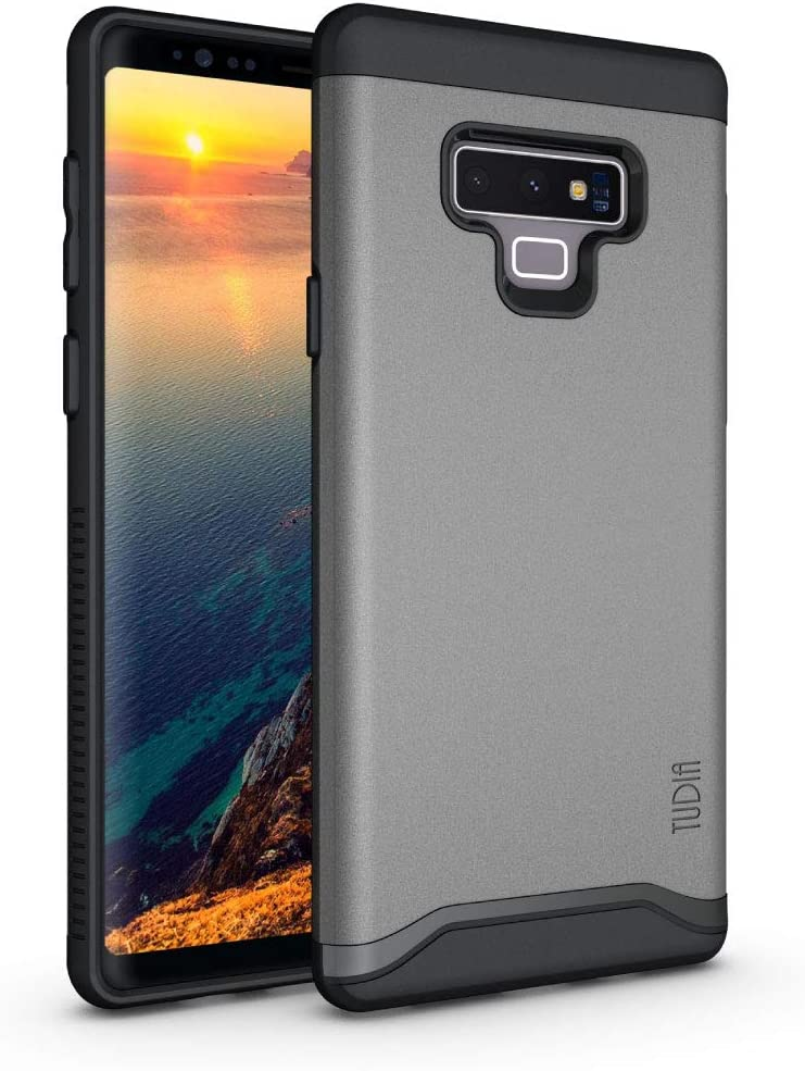Galaxy Note 9 Case, TUDIA [MERGE] Dual Layer Shock Absorbing Military Grade Drop Tested Slim Fit Protective Precise Cutouts Phone Case Cover for Samsung Galaxy Note 9 (2018) (Metallic Slate)