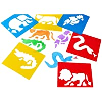 [Animales] 6 PCS Durable Baby Early Learning Painting Cards
