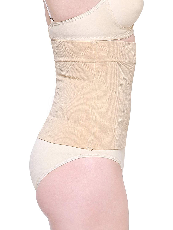 553ba5df093 Shopolica Women s Seamless No Closure Waist Corset Cincher Boned Tummy  Control (Black