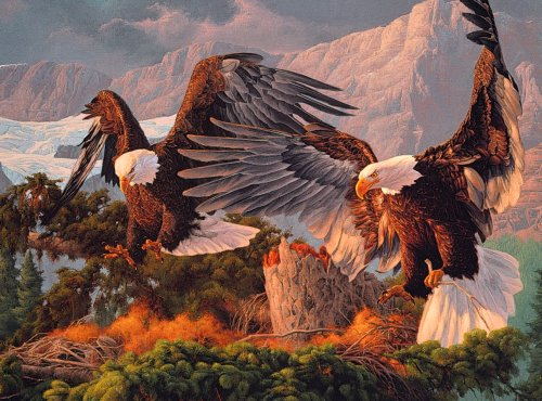 American Great Eagle (Great American Puzzle Factory Top of the World 1000 Piece Puzzle)