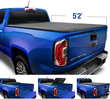 Amazon Com Tyger Auto Black Top T3 Soft Tri Fold Truck Tonneau Cover For 2015 2020 Chevy Colorado Gmc Canyon Fleetside 5 2 Bed Tg Bc3c1039 Automotive