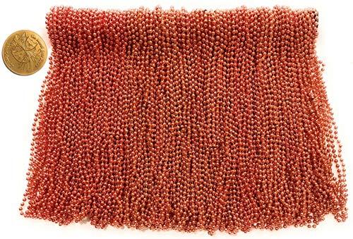 Orange Mardi Gras Beads (Mardi Gras Beads 33 inch 7mm, 12 Dozen, 144 Pieces, Orange Necklaces with)