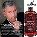 ArtNaturals Therapeutic Argan Anti-Dandruff Shampoo - (16 Fl Oz / 473ml) - Natural and Organic Coal Tar with Argan Oil - Treatment Helps Anti-Itchy Scalp, Symptoms of Psoriasis, Eczema - Sulfate Free