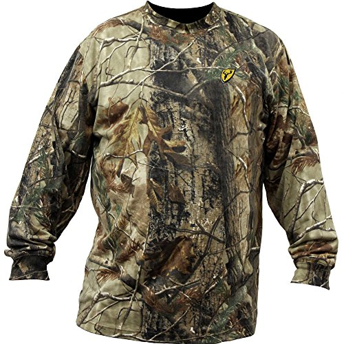 (Scent Blocker Youth Long Sleeve Cotton T-Shirt, Realtree Xtra (Large))
