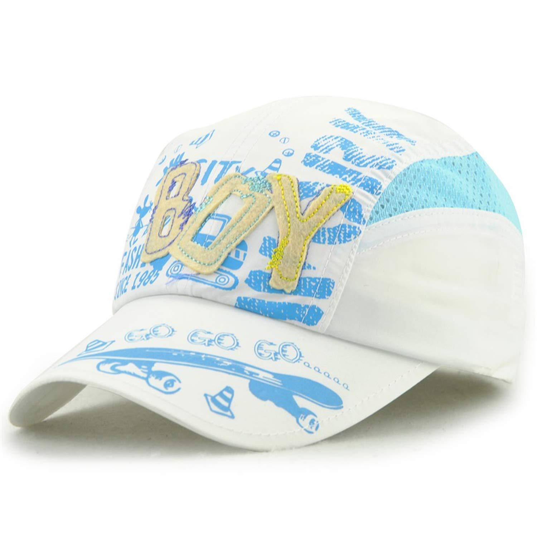ANDERDM Summer Baseball Caps for Children Quick Drying Hat Child Boys Girls Sports Hats Anti UV Sunscreen Snapback Cap