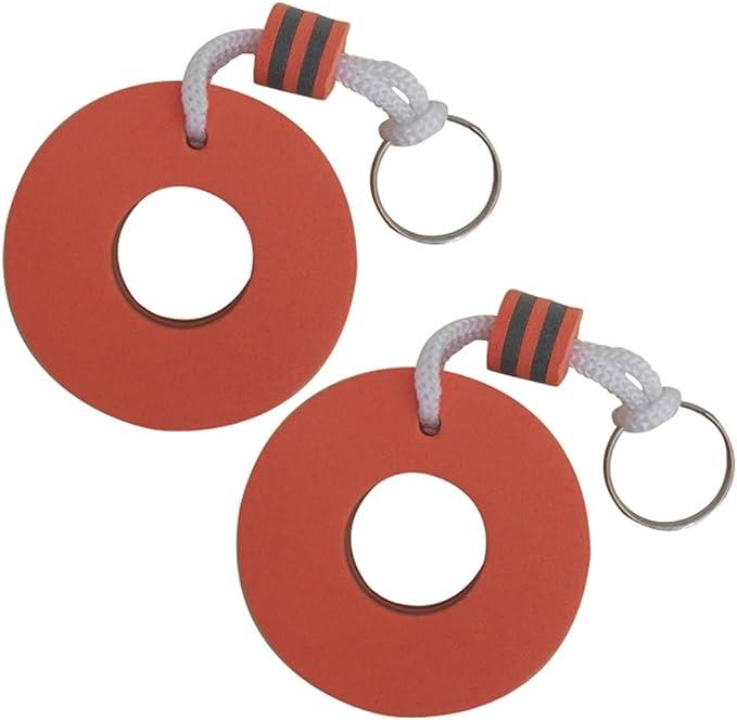 2x Boat Floating Keychain Buoyant Foam Flip Flops Shaped Key Floats Key Ring~JP