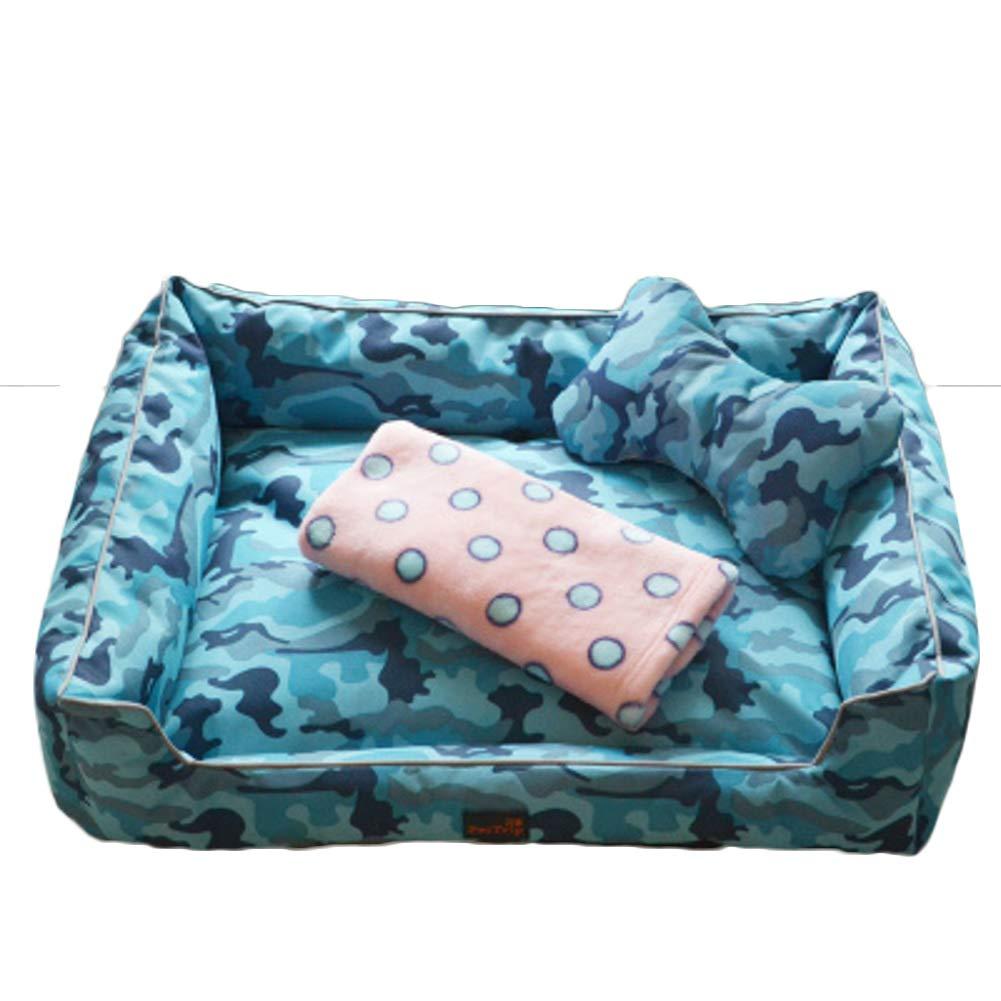bluee D M bluee D M GielCof Removable Pet bed,Ultra soft & cozy washable cat dog mat eases pet arthritis & hip dysplasia pain puppy kitten warm kennel cushion-bluee D M