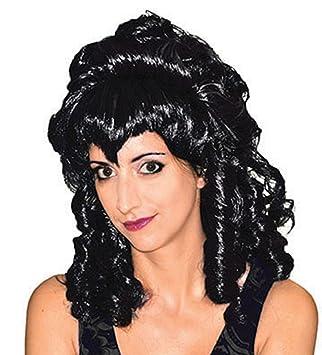 halloweenia – Mujer vampiro Aristokraten peluca – Halloween rizos Bruja pelo, muchos colores