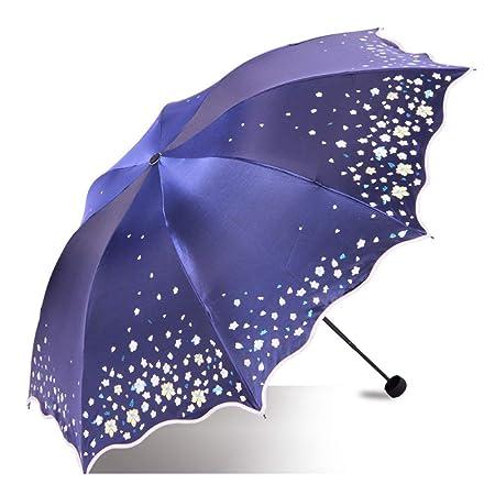 RMXMY Paraguas de protección Solar para Uso Exterior Que Cambia de ...