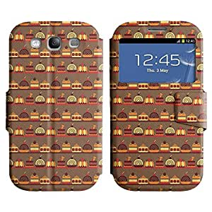 Be-Star Diseño Impreso Colorido Slim Casa Carcasa Funda Case PU Cuero - Stand Function para Samsung Galaxy S3 III / i9300 / i717 ( Sweet Food )
