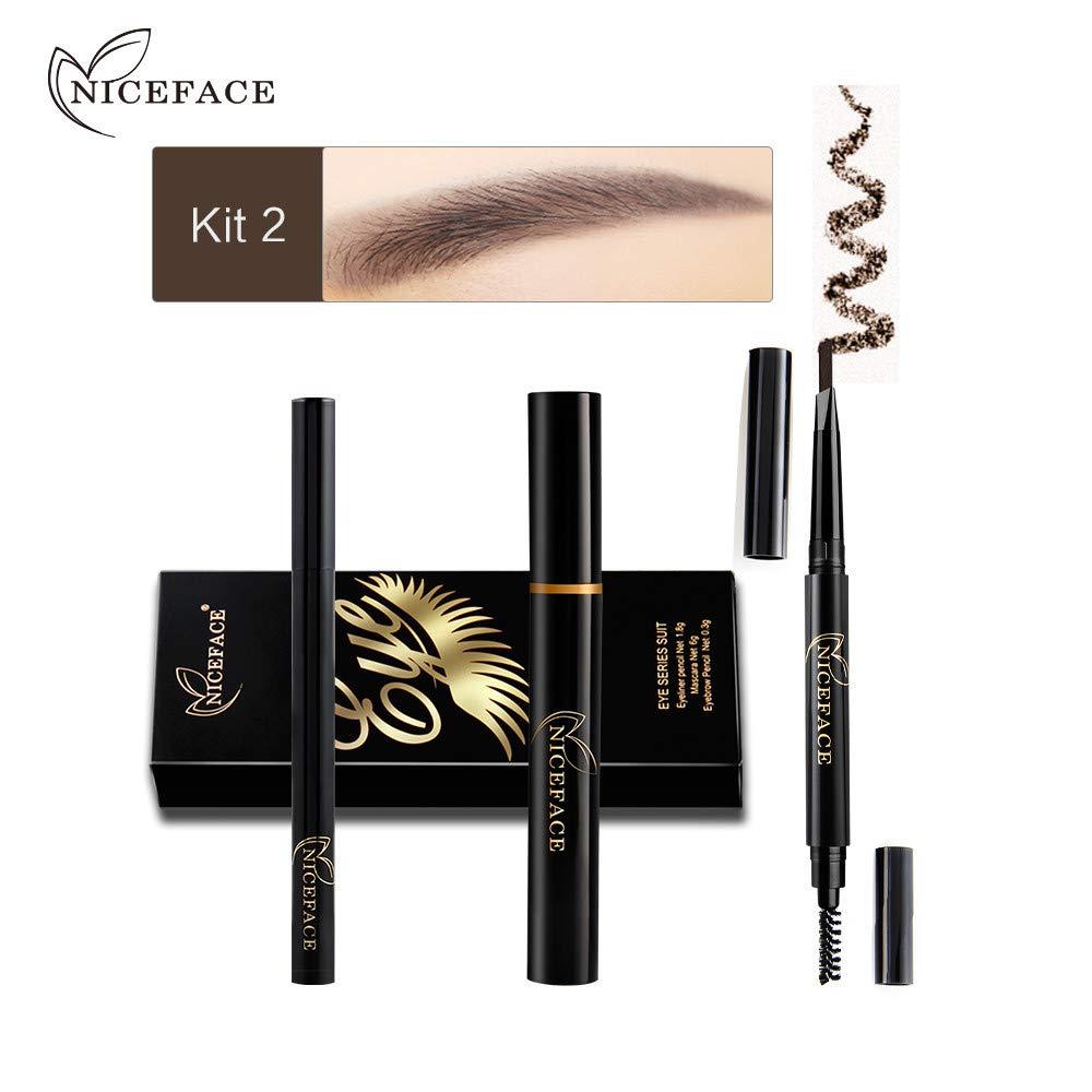 Make Up Cosmetic, Mascara,1 Set Eye Makeup Combination Eyeliner Mascara Eyebrow Pencil Black Waterproof, Makeup, Lash Enhancers & Primers