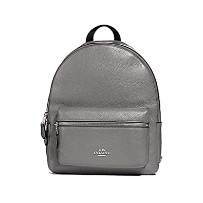 d291caa99d47 Amazon.com  Coach Pebbled Leather Medium Charlie Backpack Tote (Grey ...