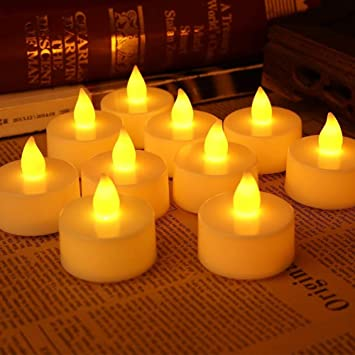 Buy VMONI Set of Twelve Small Electric Flameless LED Battery Operated  Votive Little Tea Light Candles with Warm White Flickering Bulb Lights  Online at Low Prices in India - Amazon.in