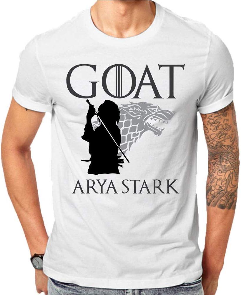 Camiseta de caza de la cabra de Star Vs Night King de Juego de Tronos, fabricada en Estados Unidos - Blanco - Small: Amazon.es: Ropa y accesorios