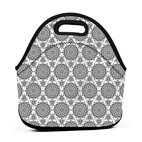 - Convenient Lunch Box Tote Bag Tribal,South Eastern Pattern,mini lunch bag for kids