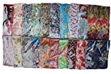 Kuldip Crushed Effect Pashmina Style Scarf Shawl Stole. Mixed designs. (Pack of 10).