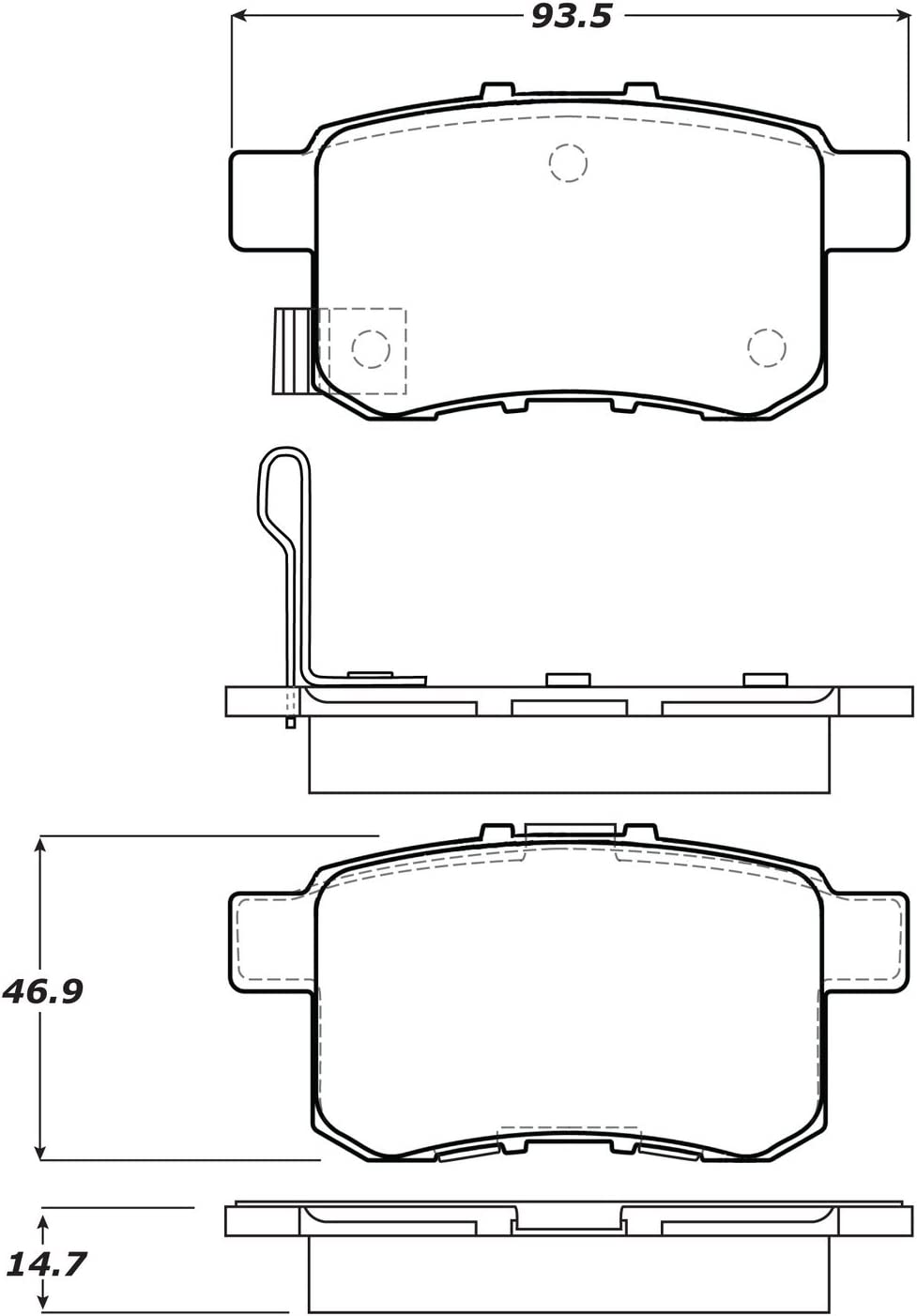StopTech 308.13360 Street Brake Pads 5 Pack