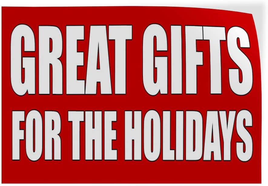 One Sticker 69inx46in Decal Sticker Multiple Sizes Great Gifts for The Holiday red Lifestyle Gifts Outdoor Store Sign Red