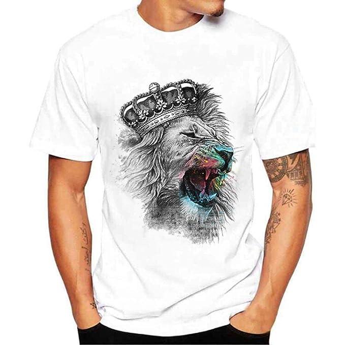 Yvelands White T-Shirt Hombres Moda O-Cuello Ocasional Impreso Camisetas Slim Blusa Top Party Beach Verano, Liquidación: Amazon.es: Ropa y accesorios
