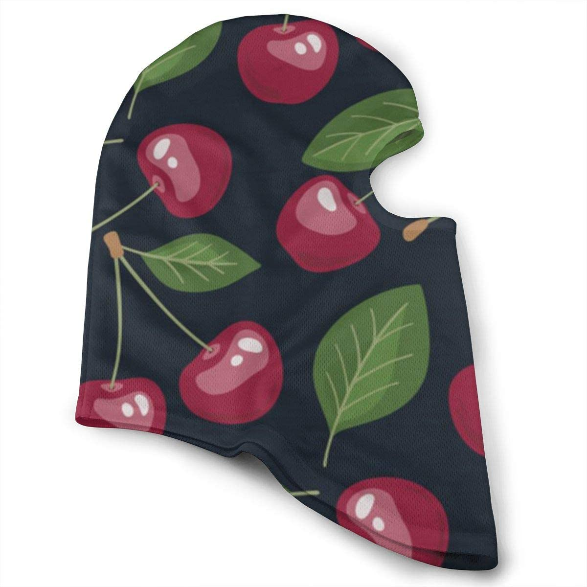 CAClifestyle Cherries and Leaves Pattern Unisex Windproof Balaclavas Full Face Mask Hood