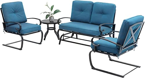Oakmont Outdoor Furniture Patio Conversation Set Glider Loveseat