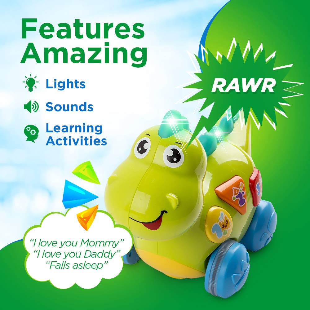 WolVol Talking Dinosaur Toy with Lights and Sounds for Kids - Teaching, Learning, Activity, Walking & Fun Action by WolVol (Image #3)