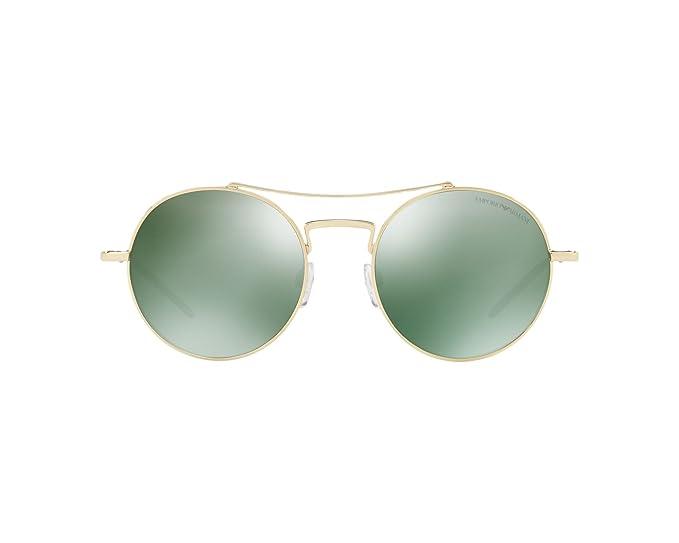 Emporio Armani 0EA2061, Gafas de Sol para Hombre, Pale Gold, 52