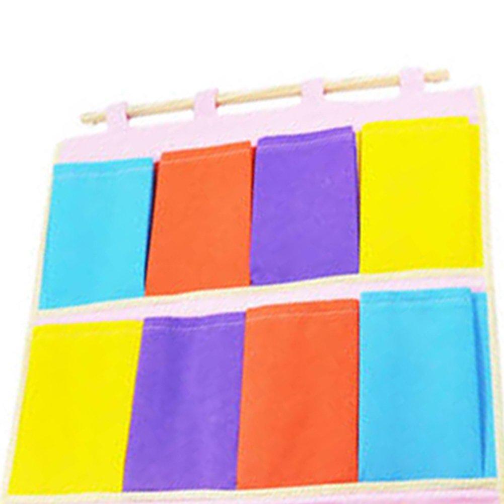 1X Toruiwa Aufbewahrungstasche H/ängenden Tasche H/ängeorganizer Wand H/äng Aufbewahrungstasche 12-Tasche 55.5*39.5cm bunt