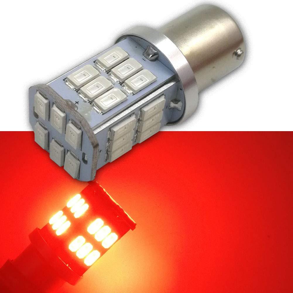 Ruiandsion 2pcs 1156 BA15S LED Bulbs Super Bright 10-80V 5630 30SMD LED Reverse Backup Turn Signal Side Marker Light Bulbs,Red