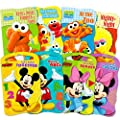 2 Set Of Baby Toddler Beginnings Board Books Sesame Street Set Mickey Mouse And Friends Set Total 8 Books By Bendon