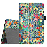 Fintie Folio Case for All-New Amazon Fire HD 8 Tablet (Compatible with 7th and 8th Generation Tablets, 2017 and 2018 Releases) - Slim Fit Vegan Leather Standing Protective Cover, Bohemian Ledge