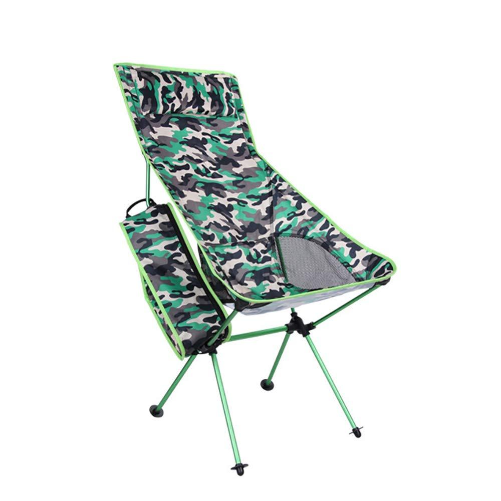LOVEHOUGE Camping Klappstuhl - Schwerlast 300 £ Tragbarer Stuhl mit Tragetasche und Kissen für Aktivitäten im Freien, Grill, Strand, Angeln,1