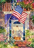 Cheap Toland Home Garden Patriotic Home 28 x 40 Inch Decorative Summer Flower America USA Stars Stripes House Flag
