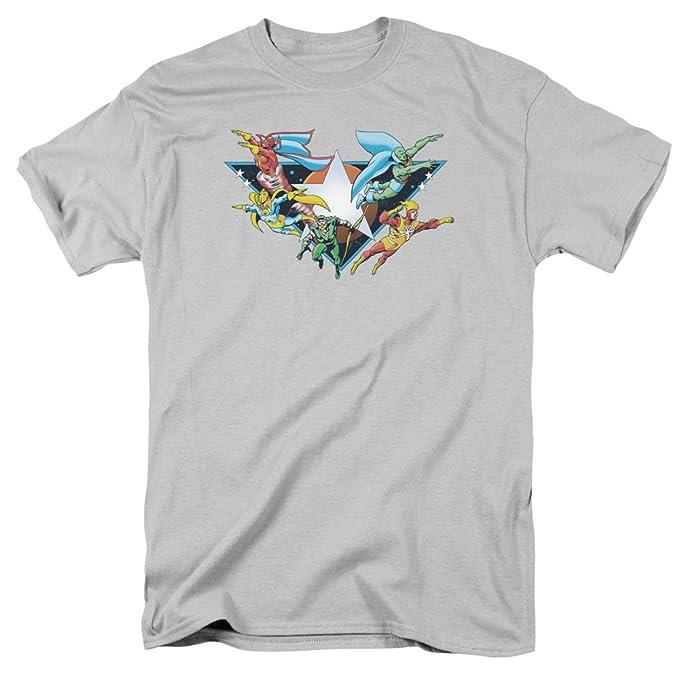 f711bc3e Amazon.com: The Justice League II Sheldon Gray Adult T-shirt Tee ...
